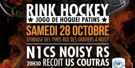 Le 28 octobre 2017 – N1 Noisy reçoit Coutras / N3 Noisy rencontre Drancy