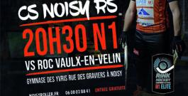 Le 7 décembre match N1 – Noisy vs Roc Vaux-en-Velin